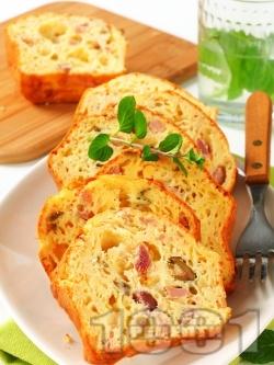 Лесен солен кекс с маслини и шунка (с бакпулвер) - снимка на рецептата